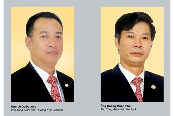 Ông Lê Quốc Long và ông Hoàng Mạnh Phú. (Nguồn: SeABank)